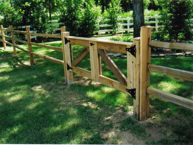 How To & Repair:How To Build A Split Rail Fence Gate Cedar Split Rail Fence Gate