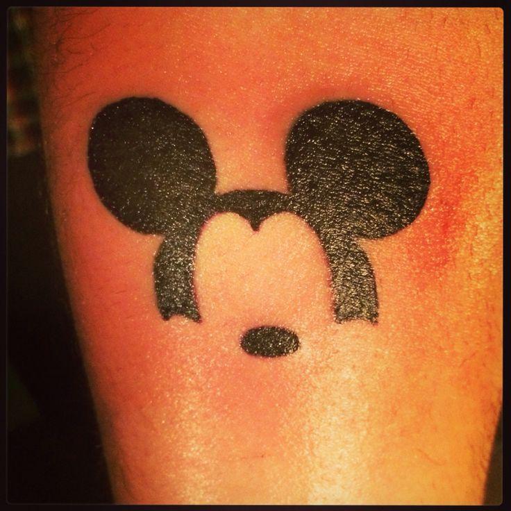 f*** yeah, disney tattoos : Photo mickey head silhouette