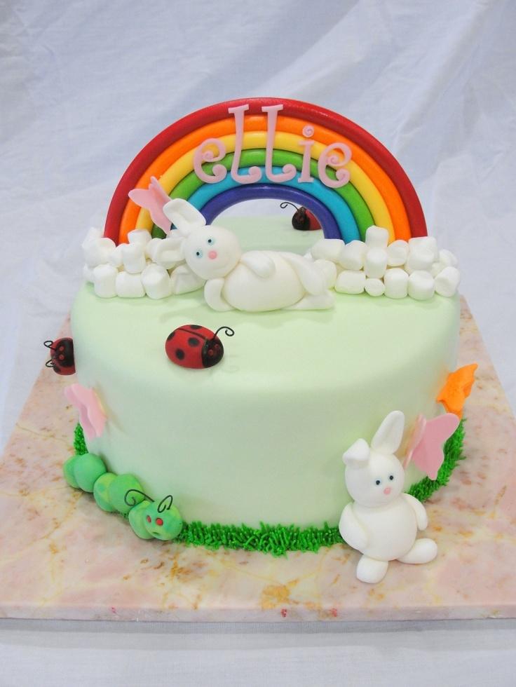 Adorable rainbow cake