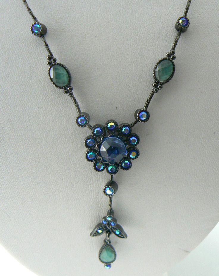 Pretty Lia Sophia Borealis Rhinestone Flower Necklace