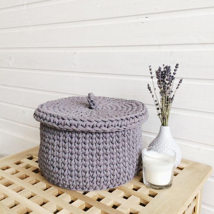 Storage basket/Crochet basket/Grey basket/Nursery basket/Scandinavian basket/Cotton Basket/Nursery decor/Storing toys/Bathroom basket/ by MyCozyStudio on Etsy