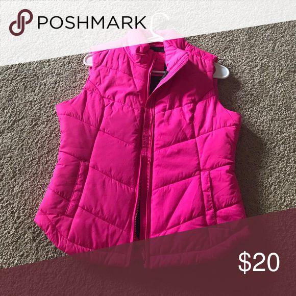 Hot pink vest Hot pink vest size medium Jackets & Coats Vests