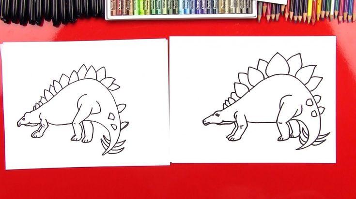 How To Draw A Stegosaurus (realistische)