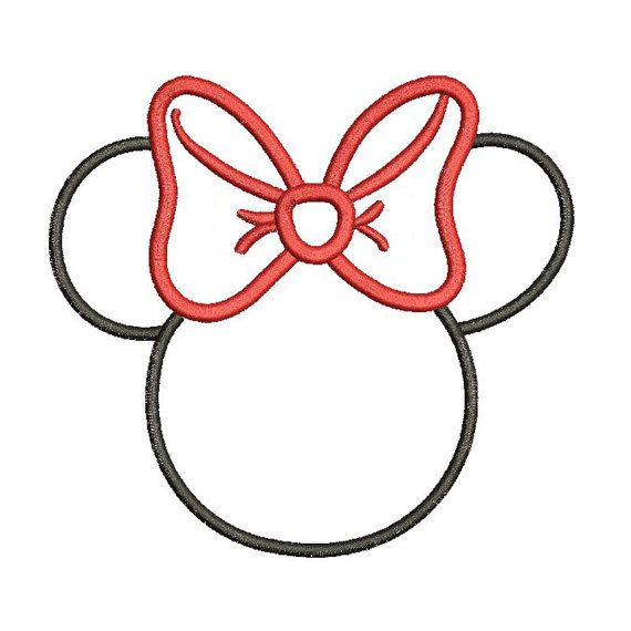 Applique minnie mouse disney inspired machine embroidery