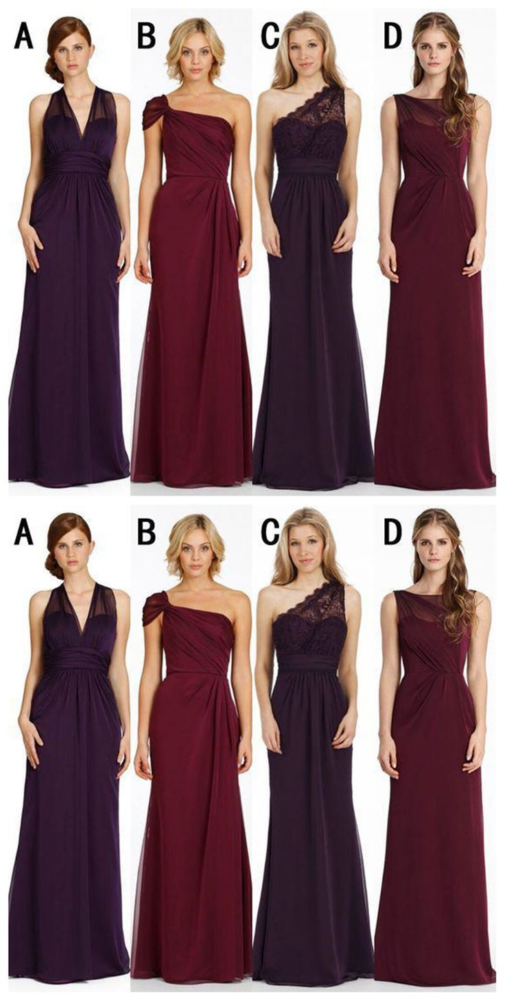Best 25 affordable bridesmaid dresses ideas on pinterest cheap mismatched chiffon long bridesmaid dresses affordable unique custom long bridesmaid dresses affordable bridesmaid ombrellifo Image collections
