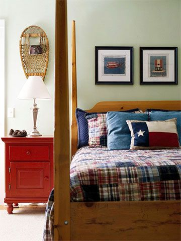 208 best images about lakehouse bedroom on pinterest red for Americana bedroom ideas