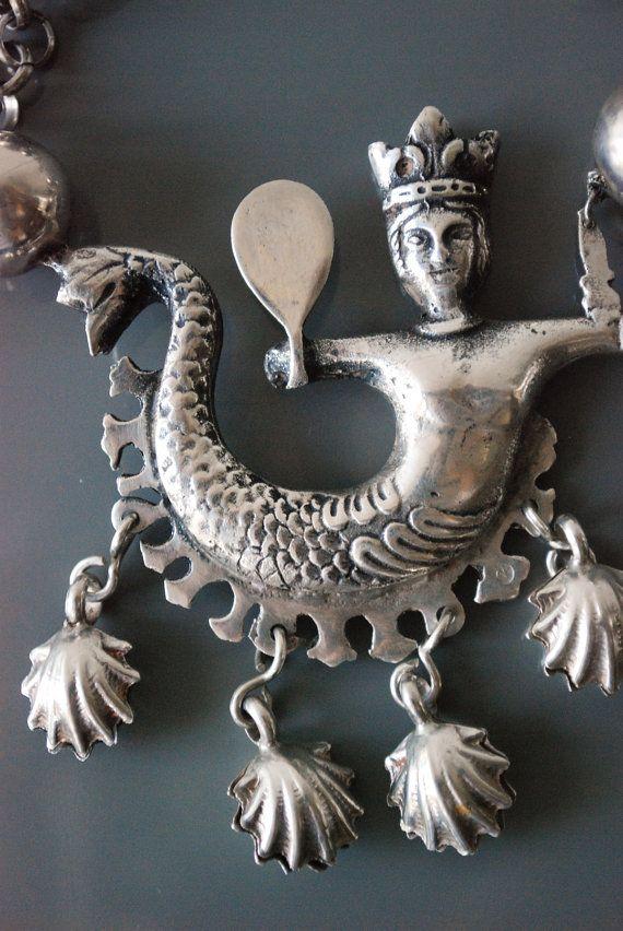 Vintage Silver Yemanjá Mermaid Sea Deity by UpcomingLegendary, $372.00
