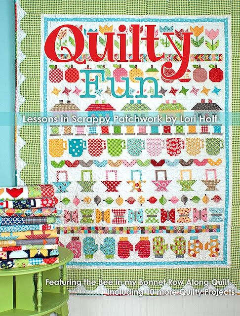 Bee In My Bonnet: More Quilty Fun...can't wait for this book!  Go visit this post if you love bright colors, quilts and cuteness!!