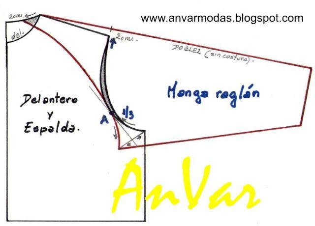 AnVar - Te enseño a coser: MANGA RAGLÁN (1)