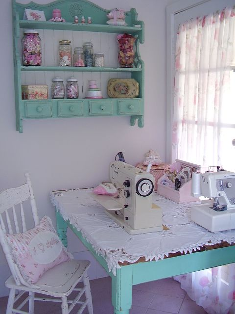 mariondee-designs: Laundry make-over.. and my sewing nook.. Would love this as my crafting room : ) x