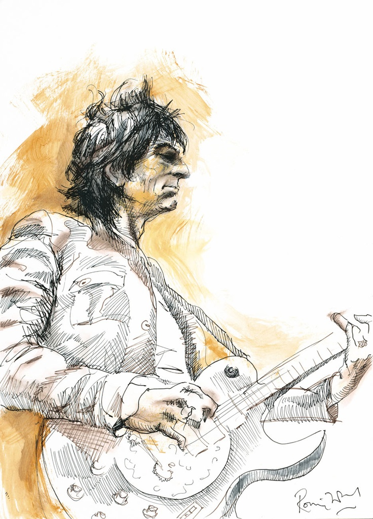 'Ronnie' Hand Signed Limited Edition By Ronnie Wood  1 of a set of 4 images  295 copies world wide