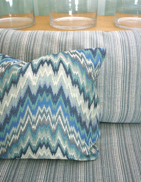 Loving our new Mughal collection and it adds a contemporary twist to some design classics. The pinstripe chenille is 'Karma'. http://www.uniquefabrics.com/mughal