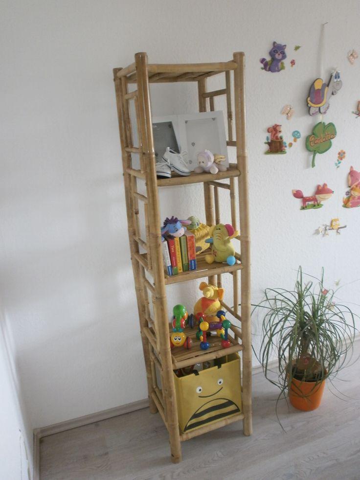 Bambusregal Mit 5 Ablagefächer Maße: B 36cm X 33cm X 152cm H Www.naturestyle