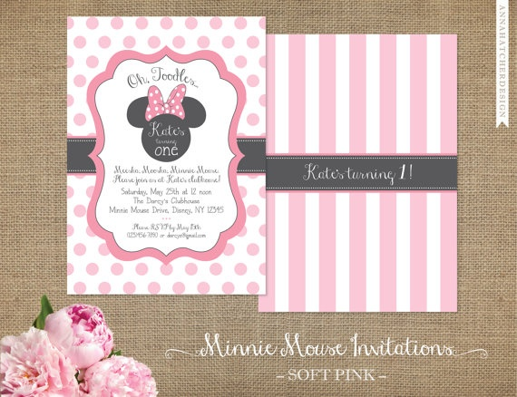 Minnie Mouse Invitations  Minnie Mouse by AnnaHatcherDesign, $25.00