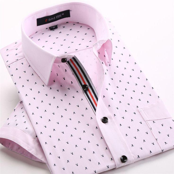 Mens print shirt casual dress short sleeve cotton polka dot floral ropa masculina camisa social shirt male 2015 fashion new