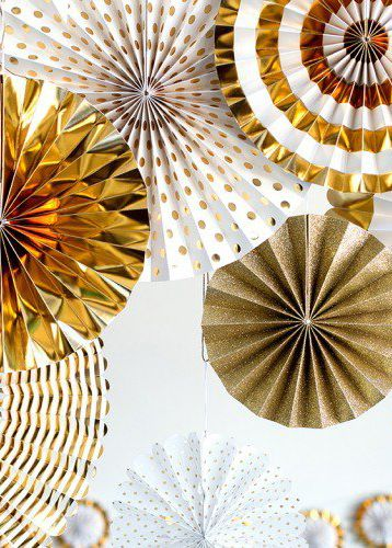 These paper pinwheel decorations are sure to make the perfect playful statement at your birthday party. Available in assorted colors, you have the option to choose what scheme works best for your special event. Try clustering the pinwheels together on a wall, hanging them as garland, or hanging each pinwheel seperately from the ceiling.