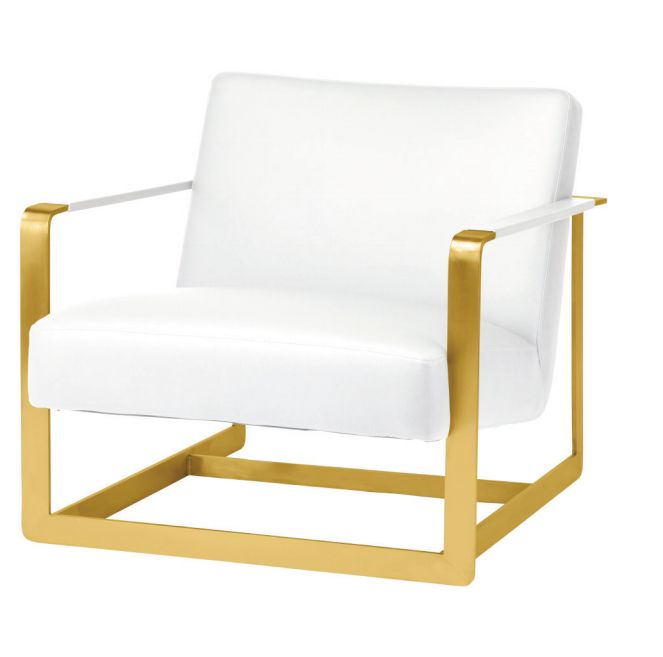 SUZA LOUNGER gold chair