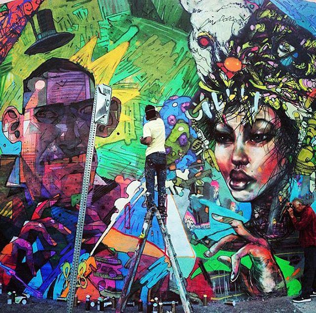Aryz x David Choe x RETNA – New Murals in Los Angeles // USA