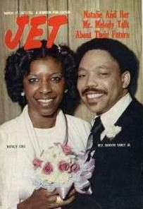 "Natalie Cole and her first husband Marvin Yancy. They had one son, Robert Adam ""Robbie"" Yancy."