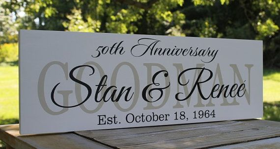 50th Anniversary Gift, Personalized Wedding Gift, Family Established Sign, Family name wooden plaque, Wood sign established date  Personalized
