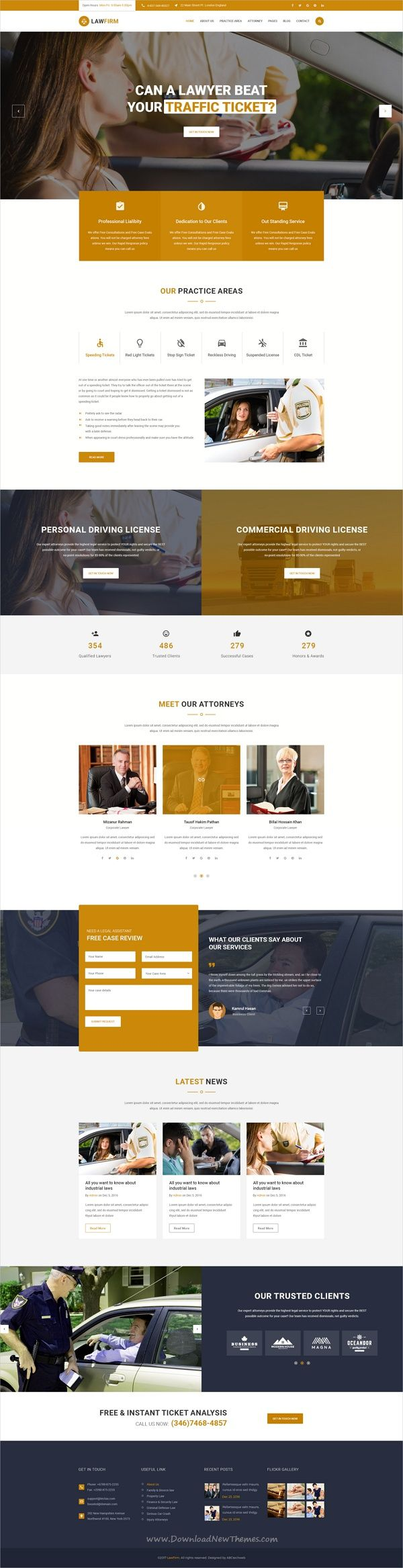 LawFirm is a professional and modern design #PSD template for attorney, lawyers, #legal #officers or advocates website with 21+ layered PSD files download now➩ https://themeforest.net/item/lawfirm-injury-traffic-ticket-wealth-planning-defense-construction-insurance-psd-template/19738419?ref=Datasata