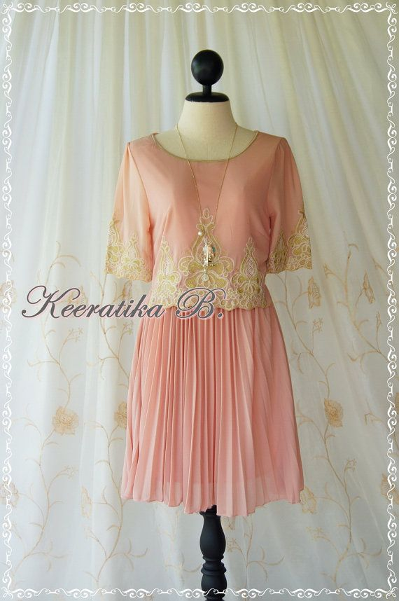 Marie Antoinette Inspired Dress Gold by LovelyMelodyClothing, $46.90