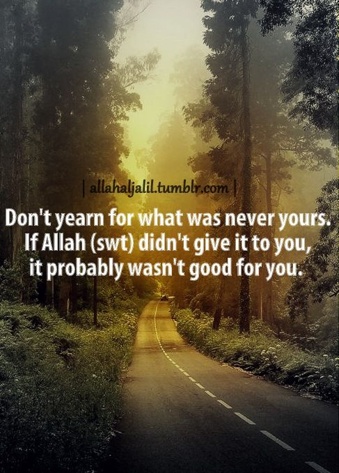 Allah has a perfect plan for you
