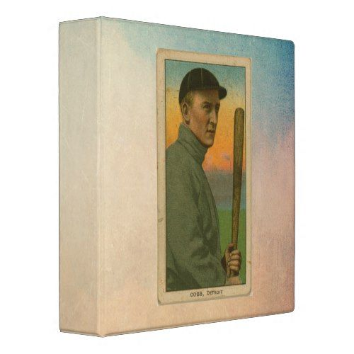 Vintage Ty Cobb Famous Sports Figure Trading Card Binder