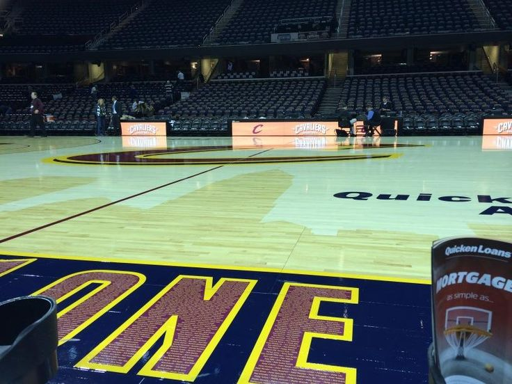 Courtside Seats At A Cleveland Cavaliers Basketball Game