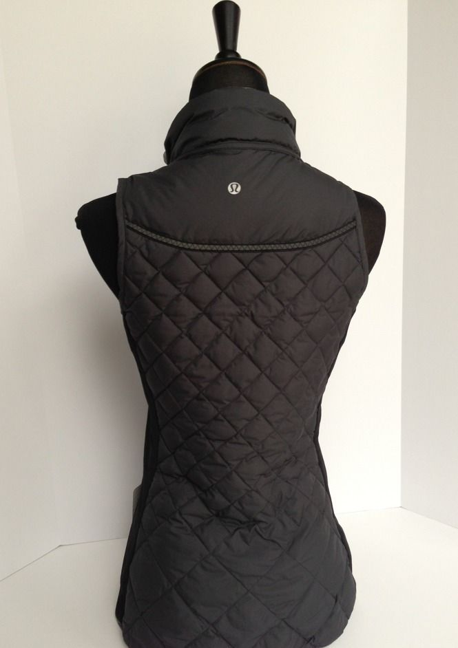 Lululemon Fluff Off Vest Black Lightweight GOOSE Down 12 W4B76S Sold Out | eBay