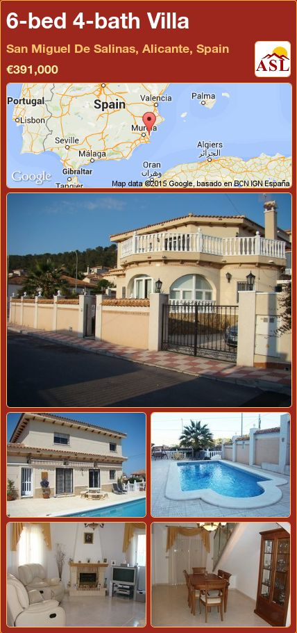 6-bed 4-bath Villa in San Miguel De Salinas, Alicante, Spain ►€391,000 #PropertyForSaleInSpain
