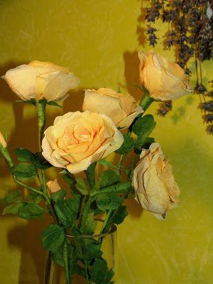 Róże z bibuły, Rose crepe paper