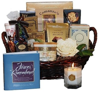 Sympathy Gift Baskets: - Heartfelt Condolence Sympathy Gift Basket at Gift Baskets Etc
