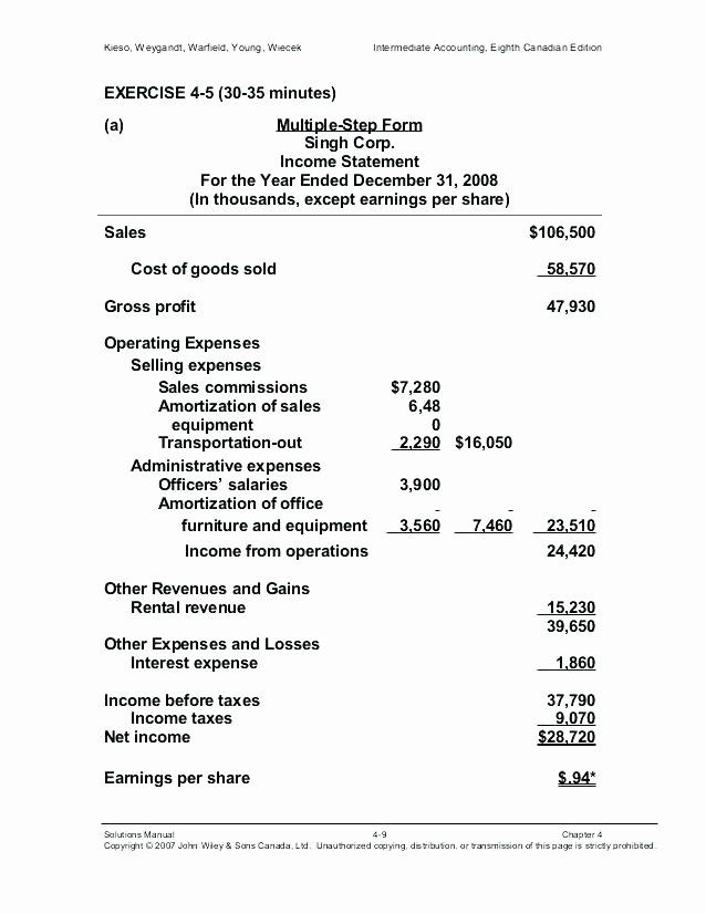 Multi Step Income Statement Template Awesome 15 Multi Step In E Statement Format Statement Template Income Statement Budget Template Excel Free