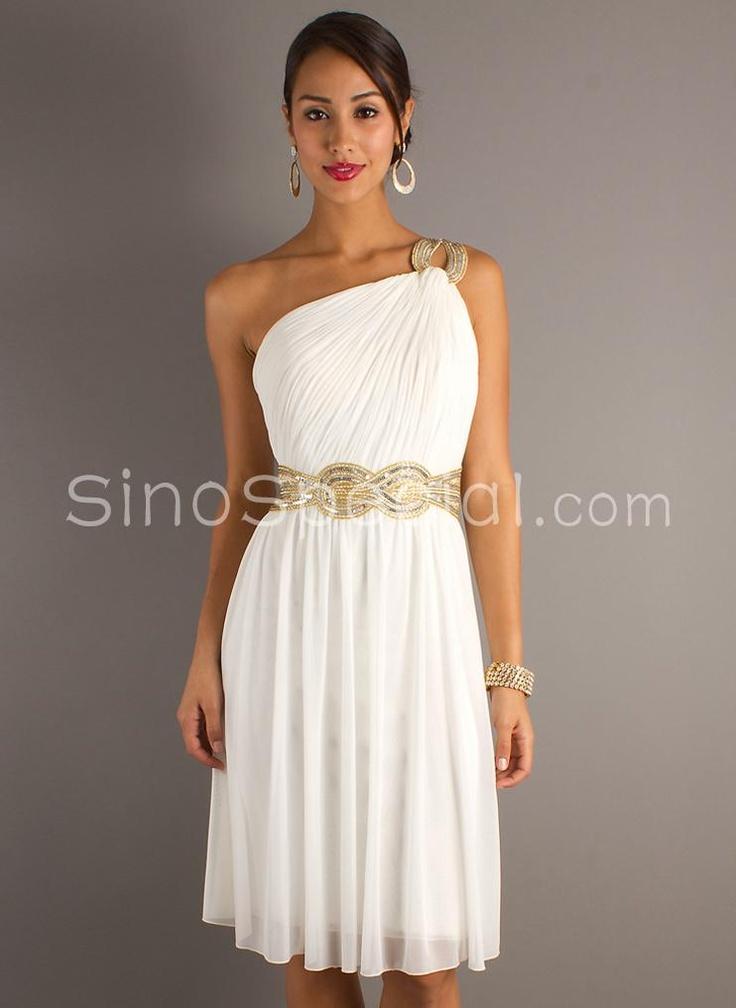Toga white dress