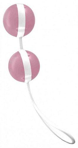 Sexlegetøj fra Joydivision fragt kun 29 kr. - Køb Joyballs - lyserød-hvid - kærlighedskugler nu i 4ushop.dk