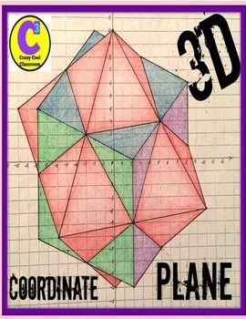 Cool Unique 3D shapes in coordinate plane