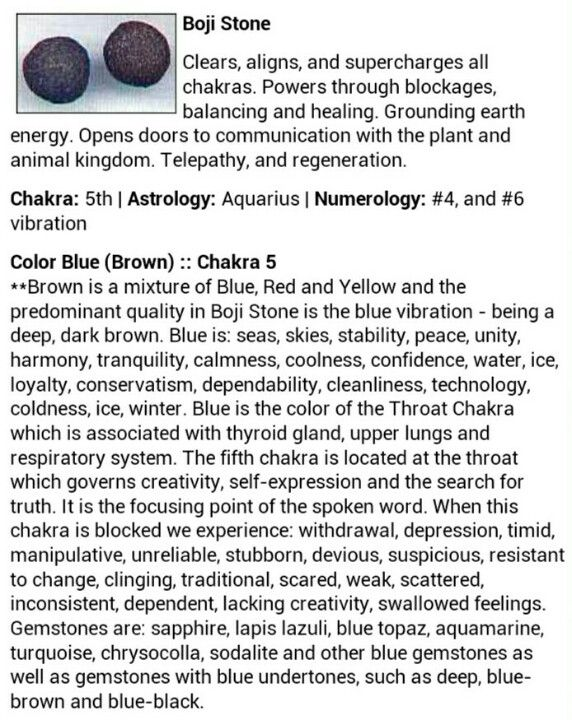 Boji Stone gemstone crystal healing