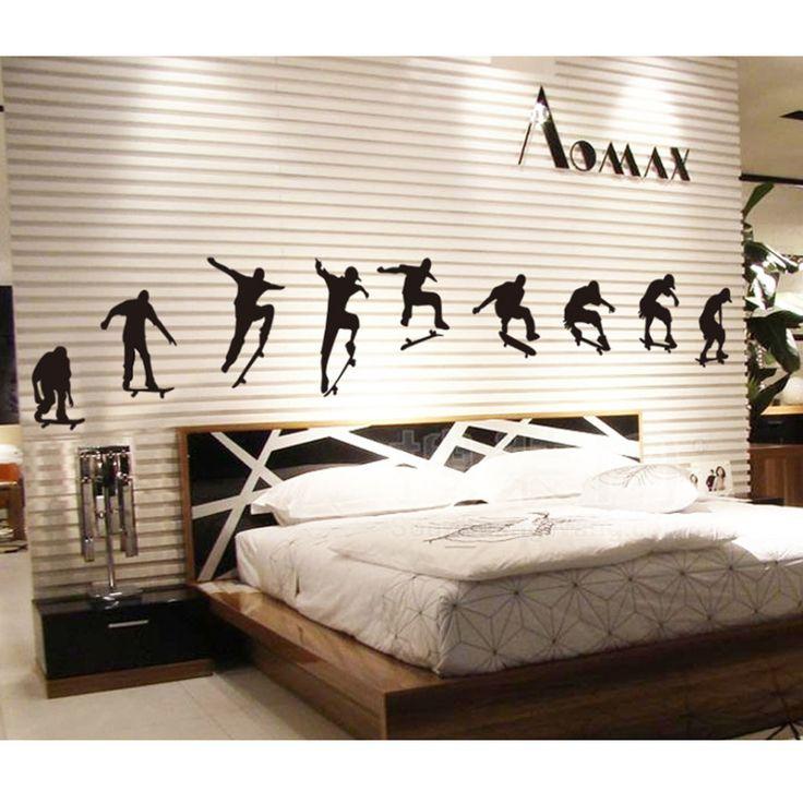 How To Achieve Skateboard Bedroom D Cor Modern Bedroom Design With Low Brown Wooden Platform Bed