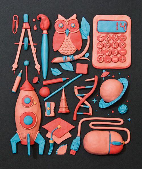 Plasticine illustration for La Vita Nòva, the iPad magazine of Il Sole 24 Ore.