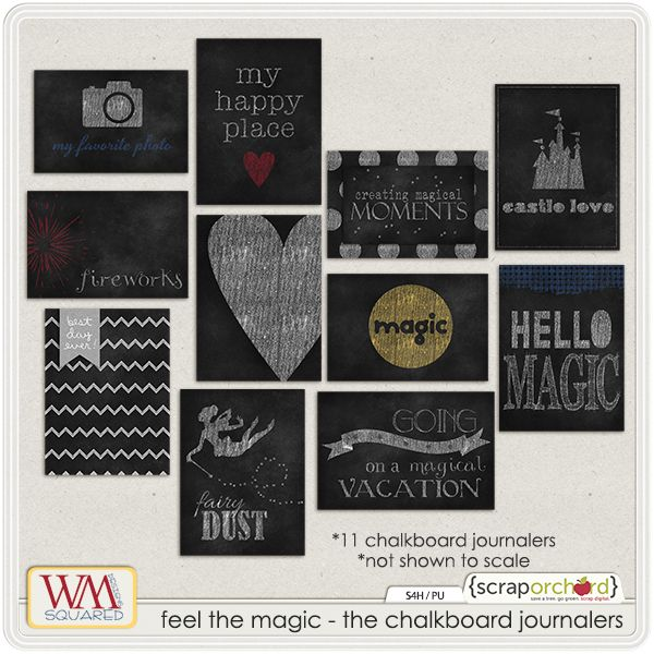 Feel The Magic - The Chalk Journalers for Disney pocket scrapbooking