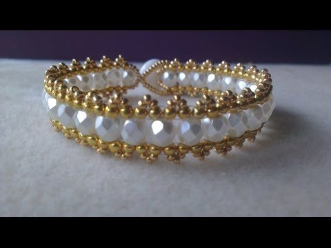 "Tutorial: Beaded bracelet ""Princess"" Superduo Silky beads - YouTube"