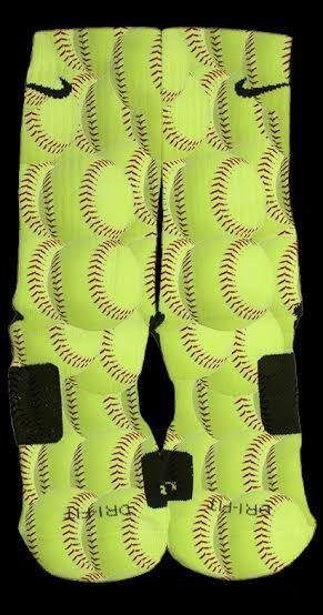 Softball custom Nike Elite Socks from TheSickestSocks on Etsy. #softball #girlssoftball #pitcher #customelites #want #softballislife #socks #softballelites.