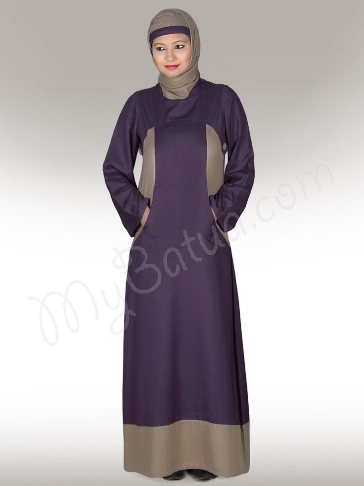 Afreen Purple Abaya