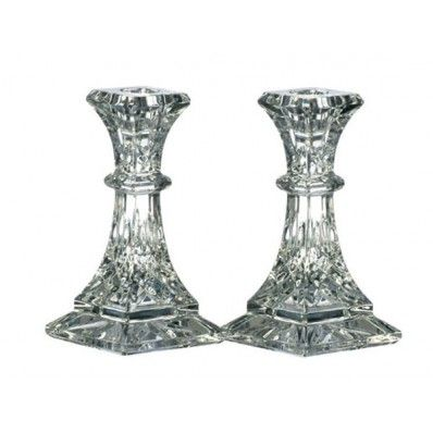 "Waterford Crystal Lismore 8"" Candlesticks Set of 2 <3"