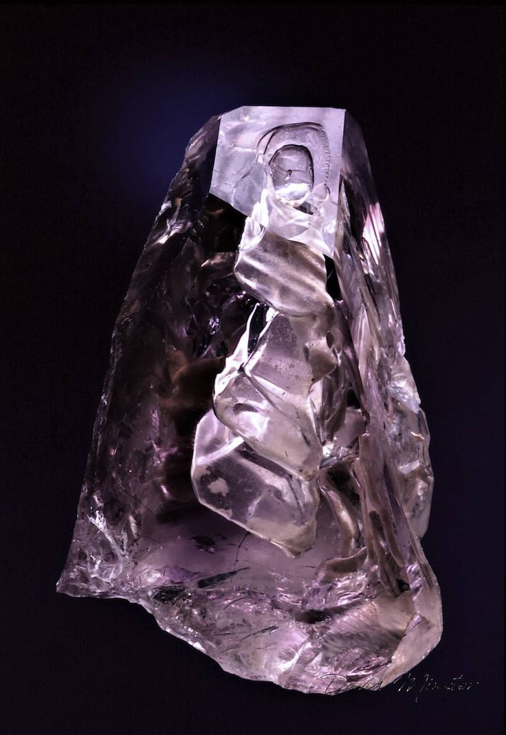Typical inner scenery of a Brandberg Amethyst