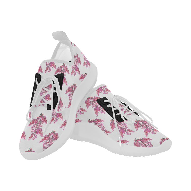 Colorful Cute Floral Design Pattern Dolphin Ultra Light Running Shoes for Women (Model 035)