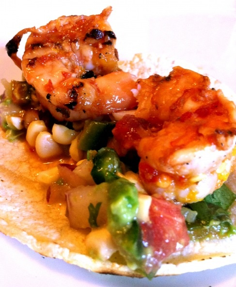... with Grilled Corn, Tomato & Avocado Salsa - and Fresh Corn Chips