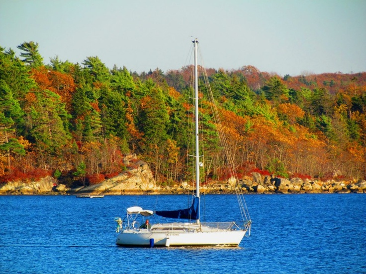 Sailing in Bedford Basin, Nova Scotia.   Taken by P. Gallant