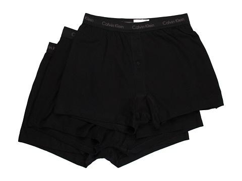 Calvin Klein Underwear Classics Knit Boxer 3-Pack U3040 - Lenjerie Intima - Imbracaminte - Barbati - Magazin Online Imbracaminte